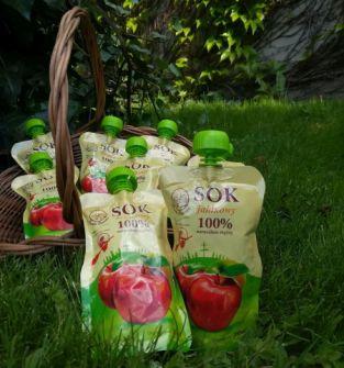 Sok jabłkowy 100% naturalnie mętny 200ml