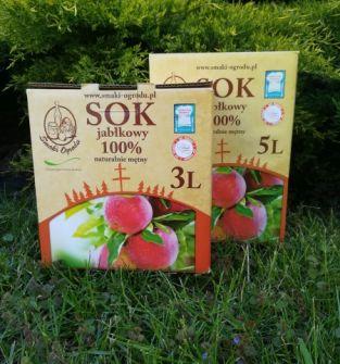 Sok jabłkowy 100% naturalnie mętny 3L