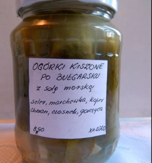 Ogórki kiszone po bułgarsku