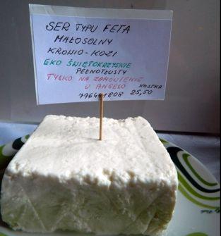 Ser typu FETA, małosolny, krowio-owczy 600 g